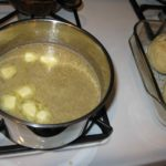 Cooking up the topping, (brown sugar, butter, cinnamon, water)