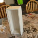 wooden box with Gesso (primed)